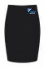 Straight Skirt with School Badge